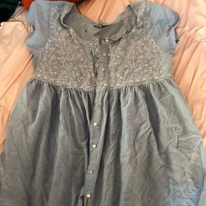 3 for $12 Light Blue Button Up Dress